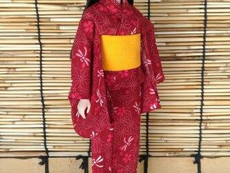 「浴衣…秋蜻蛉」27cmドール着物の画像