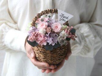 Flower basket (S) Antique pinkの画像
