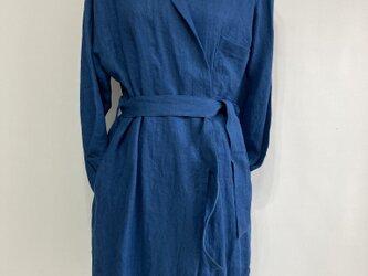 リネンヘチマ衿 ローブコートの画像