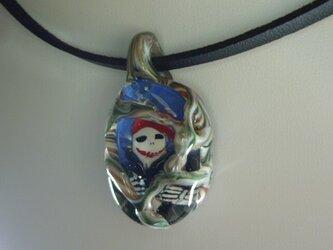 ハロウィン、赤い口のジャック(ガラス、ハロウィン、ペンダント)の画像