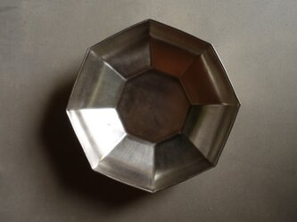 銀彩八角鉢 Lの画像