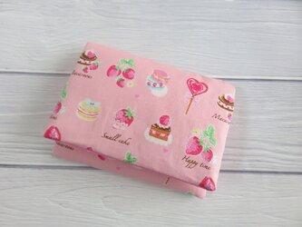 New*移動ポケット*いちごスイーツ*イチゴ*ピンク*ポケットティッシュケースの画像