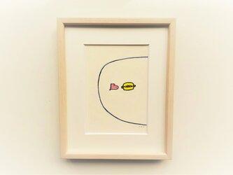 「わたしのシチュー」 イラスト原画 ※木製額縁入りの画像
