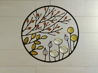 ガラスのリース [秋の庭]Lの画像