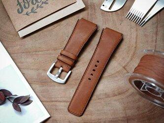 高級革使用 腕時計ベルト アップルウォッチバンド フランス産高級レザ バレニアレザー メンズ レディースの画像