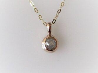 ナチュラルダイヤモンドのK10のペンダント(グレー)の画像
