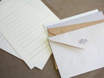 活版印刷の小粋なアクセント・「装飾罫線」レターセットの画像
