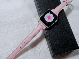 高級革使用 腕時計ベルト アップルウォッチバンド フランス産高級レザ ヴォースイフト メンズ レディースの画像