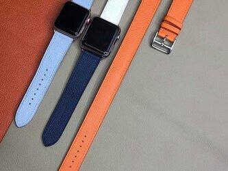 【永久保証】高級革のApple Watchベルト ミックスカーラー 男女問わず 時計ベルト 腕時計 皮の画像