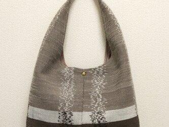 裂き織り 秋色のショルダーバッグ◆ワンハンドルの画像