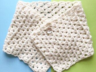 マフラー手編み 日本製毛糸 レース風の画像