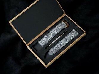 輸入オーストレッグ革使用Apple Watchベルト 時計 ベルト 腕時計 ダチョウ革時計ベルト 腕時計 男女の画像