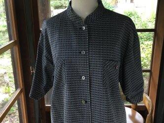綿の着物から作ったシャツブラウスの画像