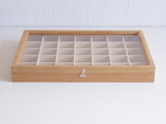 木製アクセサリーケース*Large 35ブロック チェリー*受注製作品*(小物入れ・ジュエリーボックス)の画像