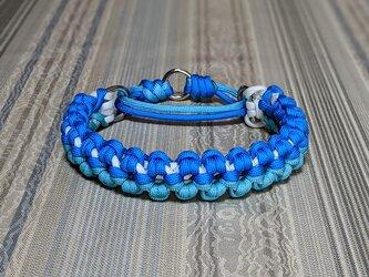 青空を模した色合いの マーティンゲールタイプの首輪 小型 中型犬用 の画像