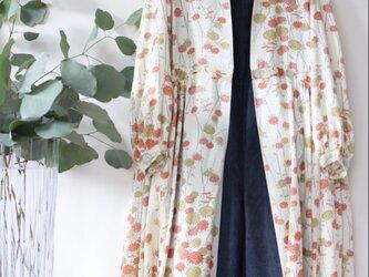 小紋★着物正絹100% 羽織にもなるロングワンピース ★一枚限定の画像