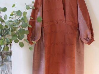 錦彩織 ★着物正絹100% 羽織にもなるロングワンピース ★一枚限定の画像