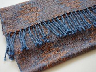 手織りカシミアストール・・赤麦の画像