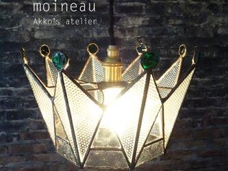 ステンドグラス 王冠【ロイヤル クラウン ティアラ】ランプ ペンダントライト   の画像