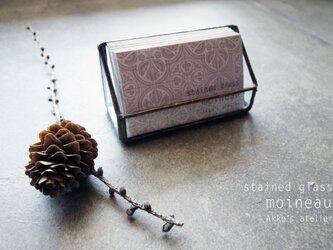 ステンドグラス【アンティーク・カードスタンド】ディスプレイ ショップカード 名刺  メモ 什器 の画像