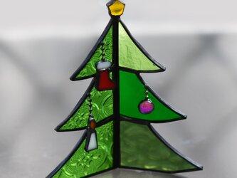 ステンドグラス クリスマスツリーの画像