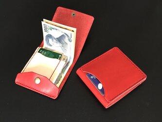 【右開口 カードポケット3 ボルドー】薄型シンプル札ばさみ MC-10vd-R マネークリップ ヌメの画像