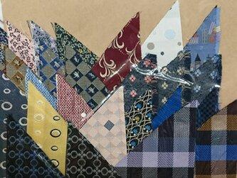 正絹西陣織ネクタイ地ハギレセット005の画像