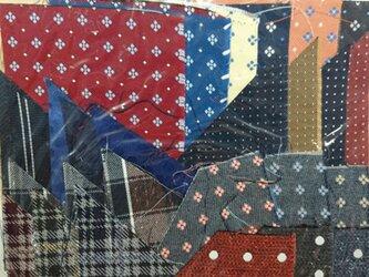 正絹西陣織ネクタイ地ハギレセット007の画像