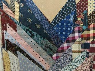 正絹西陣織ネクタイ地ハギレセット009の画像