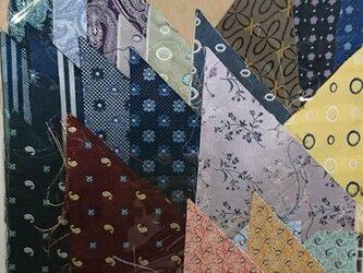 正絹西陣織ネクタイ地ハギレセット017の画像
