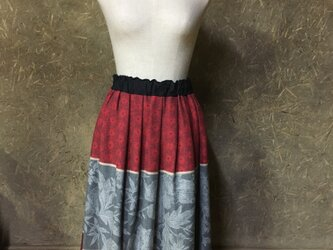 フランスジャガード生地のスカートの画像
