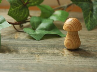 キノコの箸置き ひのき 『受注製作』の画像