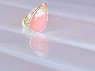 Pink Opal Leaf Ringの画像