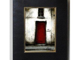 風景画 パリ 油絵 バー「赤い扉のBAR」の画像