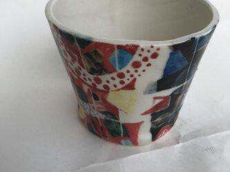 陶芸 カップ 色絵つけの画像