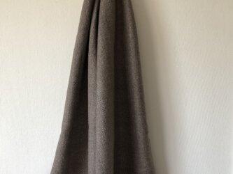 絹とカシミヤ使用ストールの画像