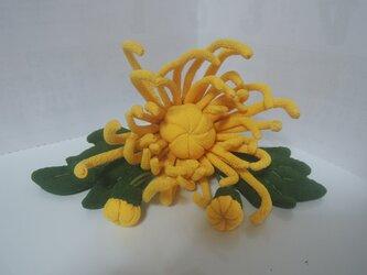 縮緬細工 菊 その一の画像