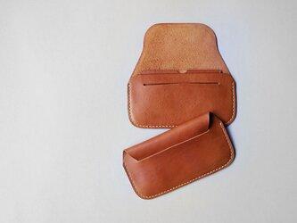 手縫い長財布 CAMEL(牛革)の画像