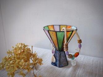 ガラスの杯カラフル 小物入れ&キャンドルホルダー 1の画像