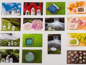 Lサイズの写真・宝石や鉱物色々15枚セット(L020)の画像
