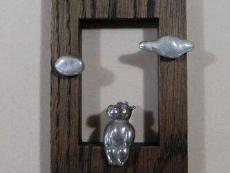 壁掛け「窓ワクの河馬」の画像