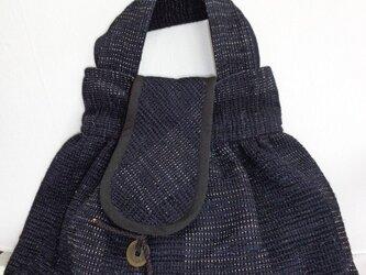 裂き織り バッグの画像