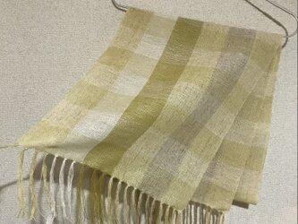 手織りストール A49の画像