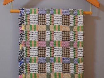 手織りDouble lambsilk -Green-の画像