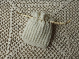 プチ巾着・白詰草の画像