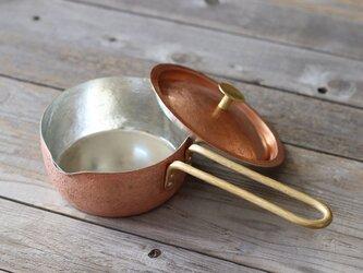 銅のオリジナル片手鍋+蓋の画像
