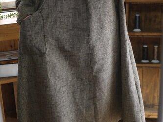 久留米絣ラウンドセーラーカラーワンピースの画像