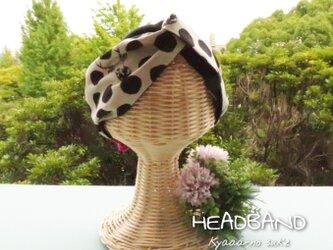 【送料無料】水玉に紛れ込んだ鹿のヘアバンドの画像
