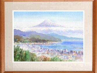 注文制作します 水彩画原画 富士山遠望(#434)の画像