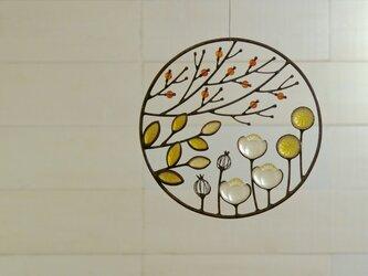 ガラスのリース [秋の庭]Sの画像
